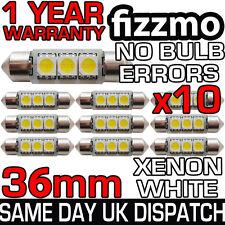 10x 3 LED SMD 36mm 239 272 CANBUS ERRORI BIANCO TARGA LAMPADINA A SILURO UK