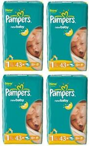 Pampers-Windeln-New-Baby-Newborn-GR-1-2-5kg-43-X-4-172-Stueck-100-ORYGINAL
