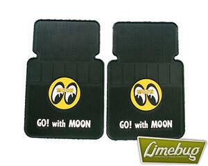 Mooneyes Rubber Car Floor Mat Yellow Moon Vw Beetle T1