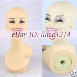 Image Is Loading Laughing Mannequins Head Mouth Hair Model Heads
