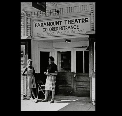 1950 Colored Theater Entrance Sign PHOTO Black Civil Rights New York Paramount