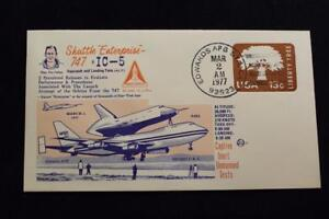 Space-Cover-1977-Mano-Annullo-Postale-5TH-Unmanned-Shuttle-Inerte-Captive-Aereo