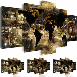 leinwand bilder xxl fertig aufgespannt bild weltkarte k a 0008 b n ebay. Black Bedroom Furniture Sets. Home Design Ideas
