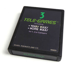 Atari 2600 Jeu -- Sears Blackjack -- Game Jeux Cart-afficher Le Titre D'origine Nc4kiozf-07180114-242339414