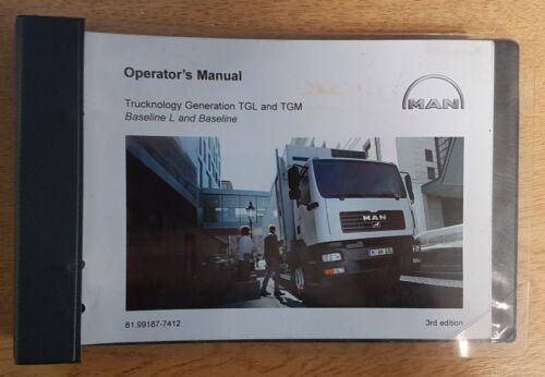 Authentique Camion MAN atterrissage et Décollage immédiat//MGT Manuel Owners Manual Wallet 2000-2018 Pack H-42