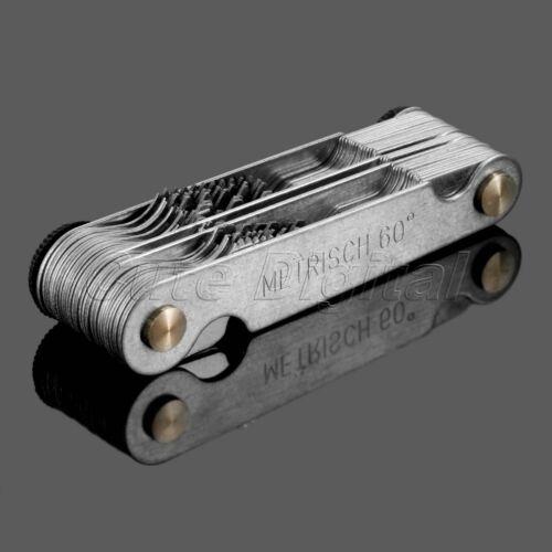 1pc Metric /& Imperial /& US Thread Screw Pitch Blades Gauge Gage Measure Range