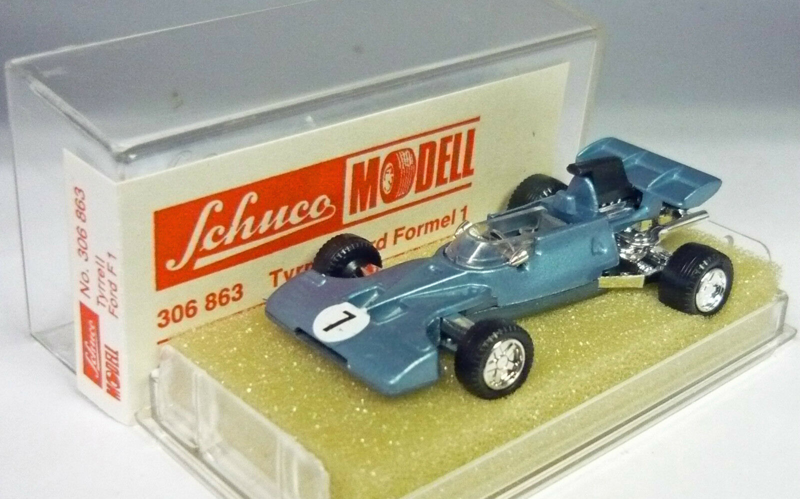 Schuco 306863 tyrrell ford - blau   7 1   66 top & in ovp