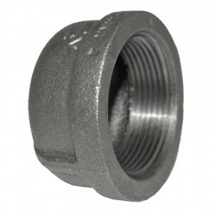Round-Cap-Black-Malleable-Iron-Pipe-Fitting-BSP-1-2-034-amp-3-4-034