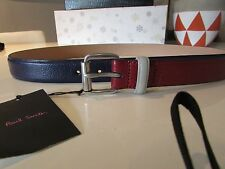 NEW PAUL SMITH TWO LEATHER BELT ACCESSORIES SIZE 34