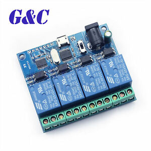 Details about USB 5V 4-Channel Relay Module USB Control Smart Switch Relay  Module