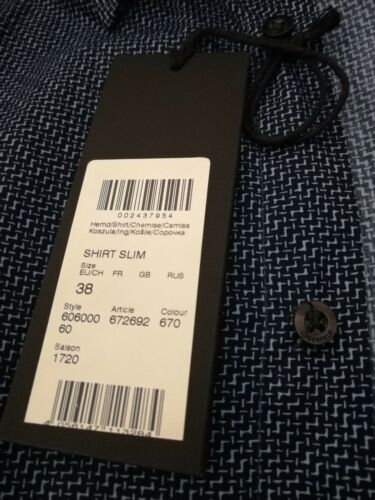 Homme Longues Chemise 96 Taille Bleu 38 Slim Manches Lagerfeld Moyen Fit xwt1X17