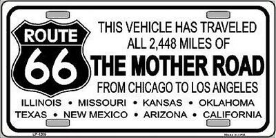 ROUTE 66 GET YOUR KICKS ALUMINUM METAL LICENSE PLATE AUTO//CAR//TRUCK SIGN TAG