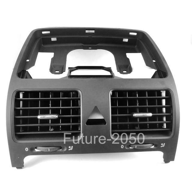 Black Front Dash Central Air Outlet Vent For Vw Jetta Golf