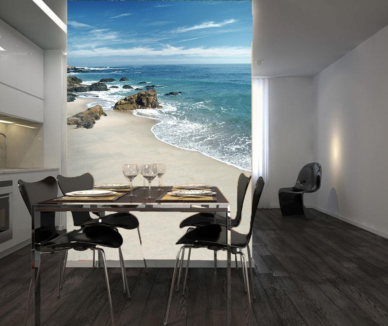 Mega 3D Beach Coast Stones 276 Wall Paper Wall Print Decal Wall AJ Wall Paper