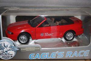 Eagles Race Ford 1994 Mustang GT Anniversary - France - État : Neuf: Objet neuf et intact, n'ayant jamais servi, non ouvert. Consulter l'annonce du vendeur pour avoir plus de détails. ... Marque: Eagle Caractéristiques: Bote fermée Matire: ZAMAC Échelle: 1:18 Emballage d'origine: Emballage d'orig - France