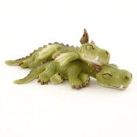 Miniature Dragon Cuddling Napping 4533 Fairy Garden Dragon