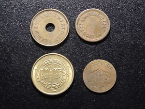 JEEPERS-PUTTWELL-MILLS-GOLDEN-AND-AMUSEMENT-4-TOKENS-XX101XXX