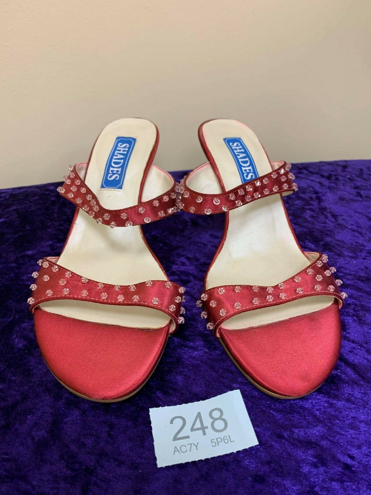 New in box burgundy wedding/evening shoes size 5 code 248 Style 874
