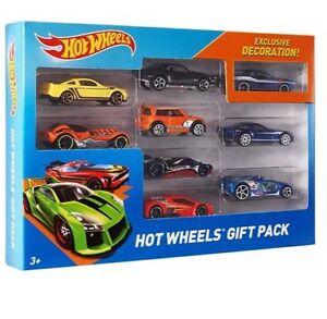 Hot-Wheels-Paquete-De-9-Vehiculos-Hot-Wheels-Car-Conjunto-de-Regalo-Paquete-coches-al-azar