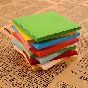 100Pc-Colorful-Square-Hand-Paper-Craft-DIY-Scrapbooking-Origami-Handmade-Paper-b