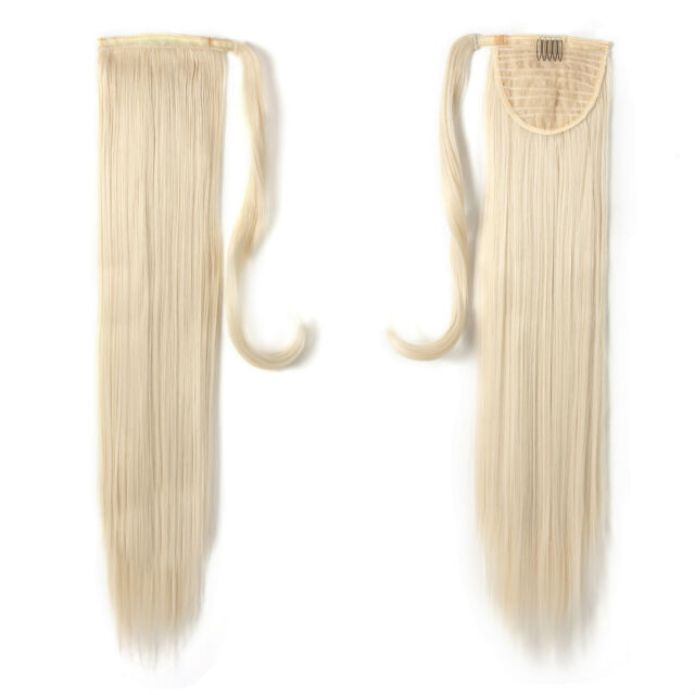 Onedor 24 Straight Long Wrap Around Ponytail Hair Extension