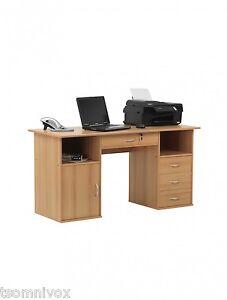 Alphason-Dallas-Beech-Effect-Computer-Desk-Workstation-Home-Small-Office