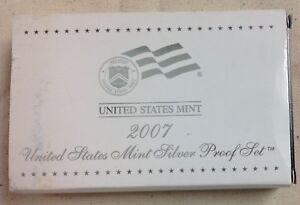 2007-US-MINT-SILVER-PROOF-SET-Complete-w-Original-Box-and-COA