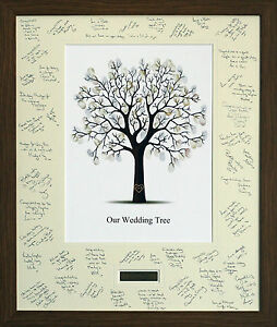 Personalised Wedding Guest Signing Signature Frame With Fingerprint
