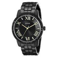Guess U0329L5 Women's Luxe Black Dial Black IP Steel Crystal Watch