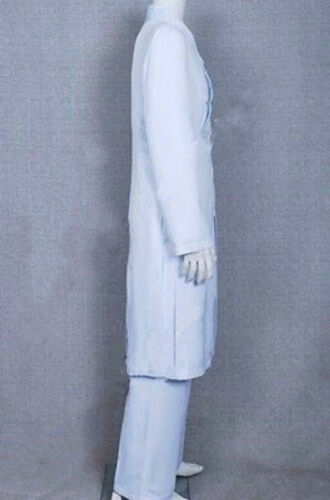 Tron Legacy Cosplay Kevin Flynn Clu Costume White Coat Pants Cape Whole Set