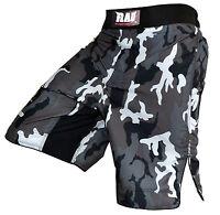 RAD MMA Fight Shorts Grappling Short Kick Boxing Cage Fighting Shorts Camo Grey