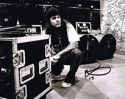 Gfa Machine Head Guitarist Signed Autograph 8x10 Photo Ad2 Coa Keep You Fit All The Time Phil Demmel