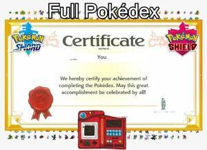 Full Living Galar Pokedex for Pokemon Sword / Shield! Non-Shiny or Square Shiny!