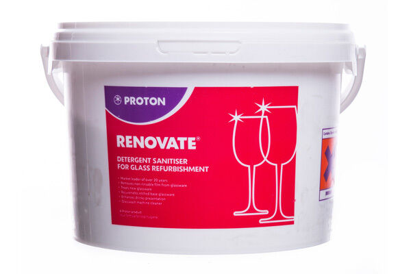 2 x Proton Renovate Glass Renovator Rejuvenate Your Glassware 2.5kg