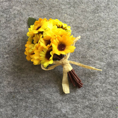 Smart Silk Man Wedding Boutonniere Groom Brooch Pin Party Prom Flower