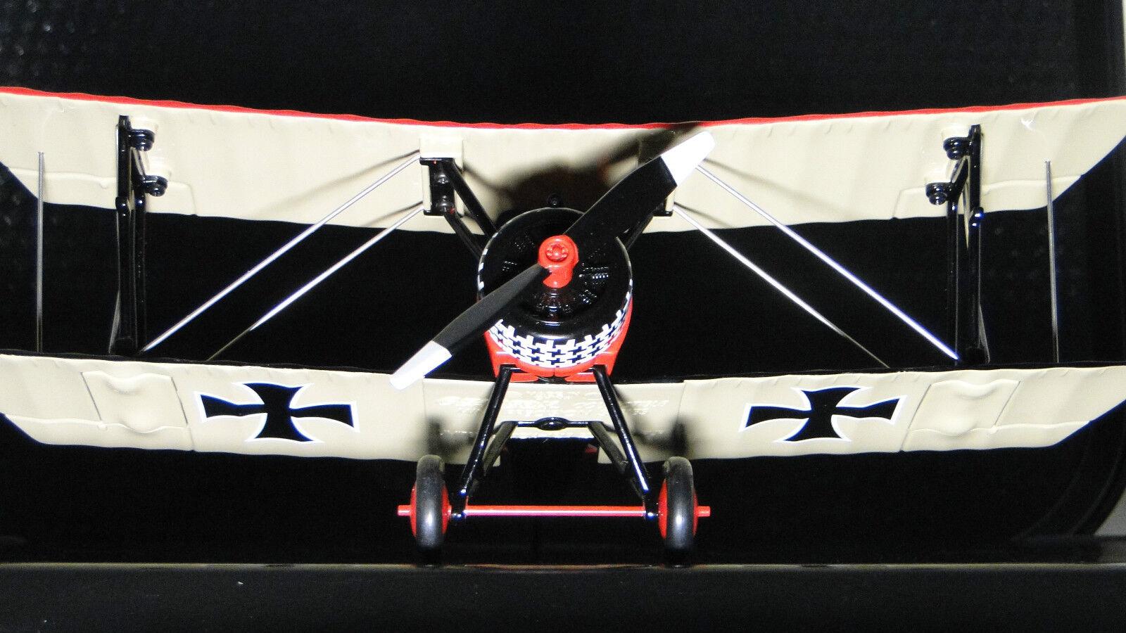 1 Red Barron Airplane Aircraft Diecast Model Military Vintage WW1 War Bird 48