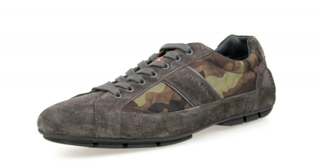 LUXURY PRADA SNEAKERS SHOES 4E2854 CAMOUFLAGE MIMETICO NEW US 11