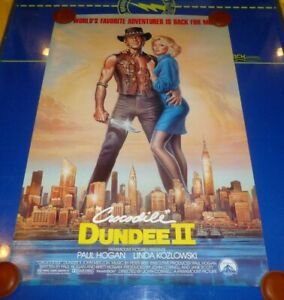 Crocodile Dundee Ii 1988 Original S S Rolled 1 Sheet Movie Poster 27 X 40 Ebay