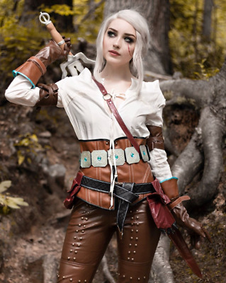 The Witcher 3 Wild Hunt Ciri Cirilla Fiona Elen Cosplay Costume Dress Outfit