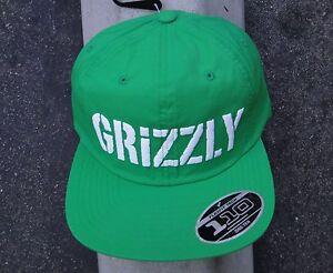 289414238e8 Image is loading Diamond-Grizzly-Griptape-Stamp-Logo-Nylon-Green-Mens-