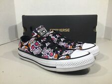 Converse All Star Women's Size 6 Low Sugar Skulls Day Of The Dead Shoes XJ-64