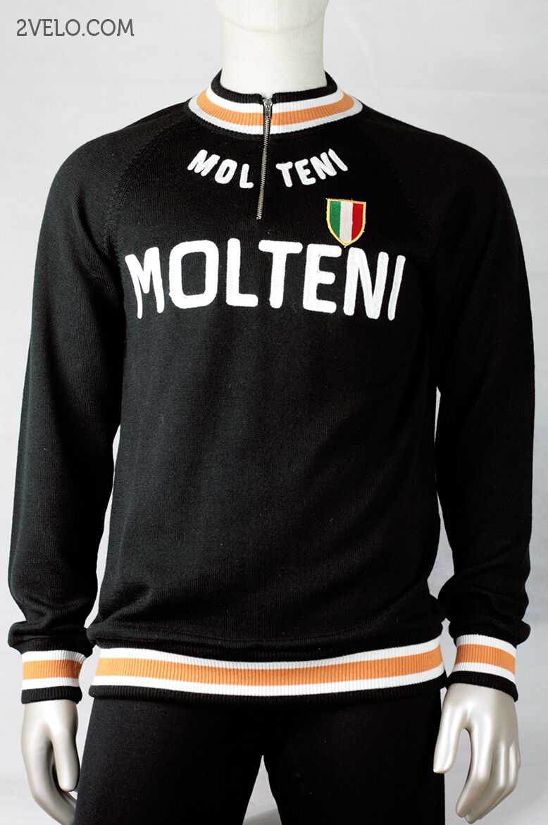MOLTENI vintage wool long sleeve jersey, new, never worn S
