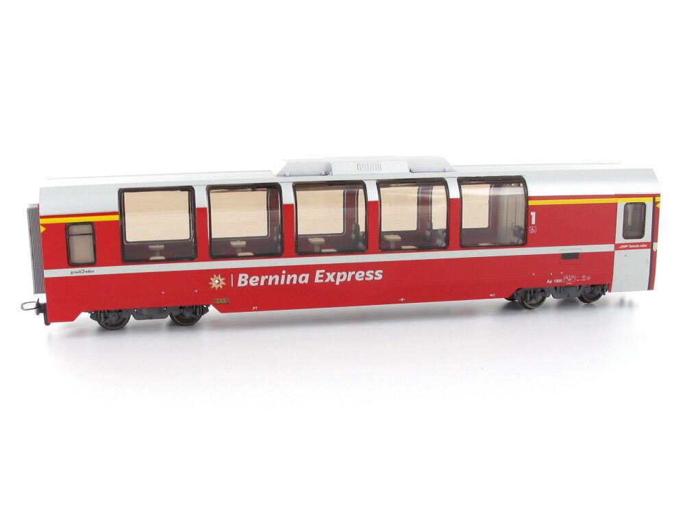 BEMO 3293145 vagoni AP 1305 Panorama AUTO Bernina-Express 1.kl. RHB h0m