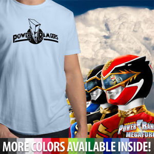 Power Rangers Team Symbol Mens Unisex Crew Neck 100% Cotton Tee T-Shirt