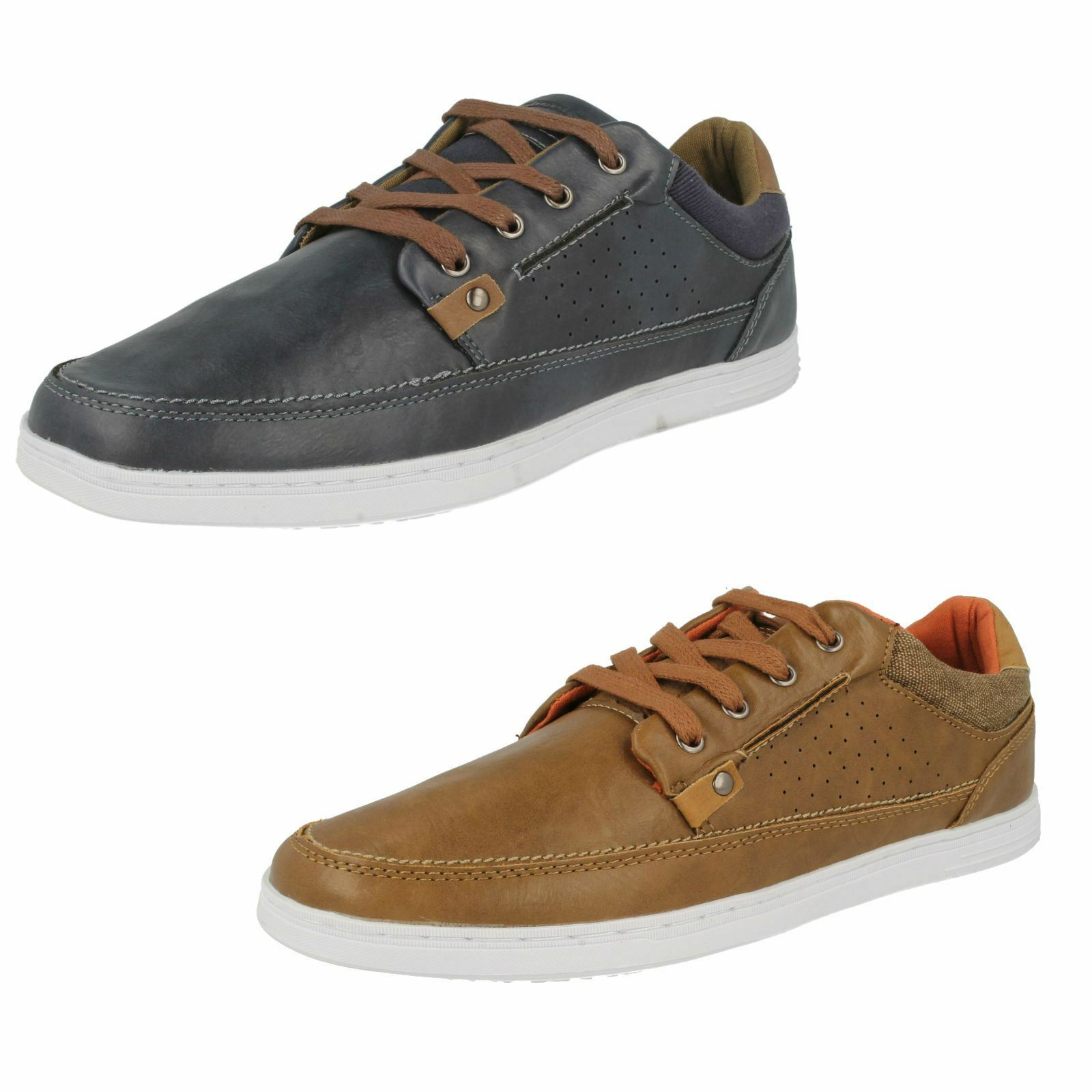 Mens Lambretta Casual Lace Up shoes - Spoons Lo