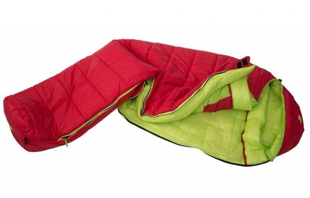 Carinthia G 250 Leichtschlafsack medium links G-LOFT® rot grün Kunstfaser A ...
