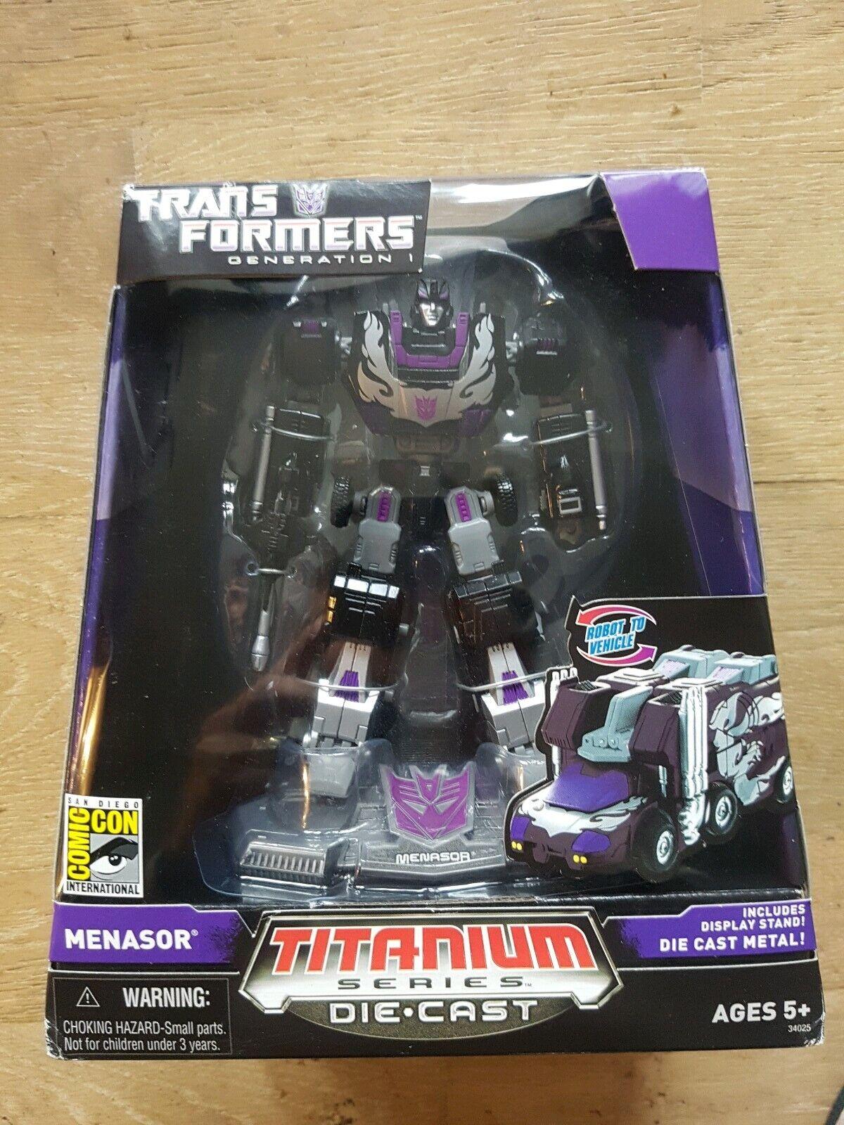 Transformers TITANIUM collezione essiasor SDCC 100% COMPLETO EDIZIONE specialeeE