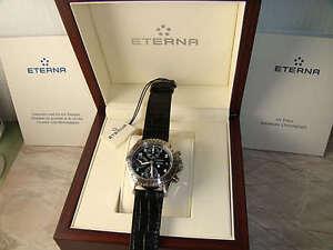 Eterna-Airforce-Swiss-Made-Mens-Automatic-Chronograph-Pilot-Watch-4995-NEW-RARE