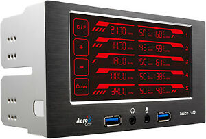 New-AeroCool-EN51965-Touch-2100-LCD-Touch-Fan-amp-Temparture-Controller-Retail
