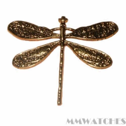 3 Tibetische Steampunk Antik Gold Libelle Amulett Anhänger Größe 46mmx37mm TS44